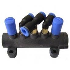 Ratų montavimo staklių complete 5-way valve [t-union]. Atsarginė dalis