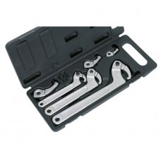Adjustable hook & pin wrench set (19-120mm)