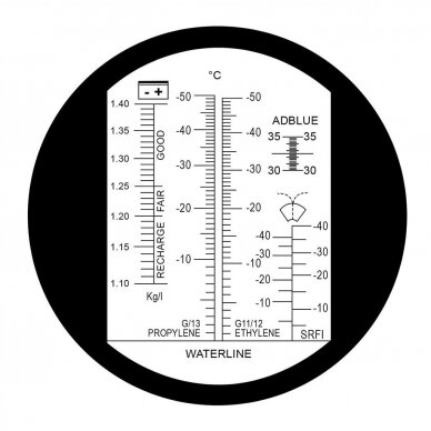 Refraktometras su LED 2