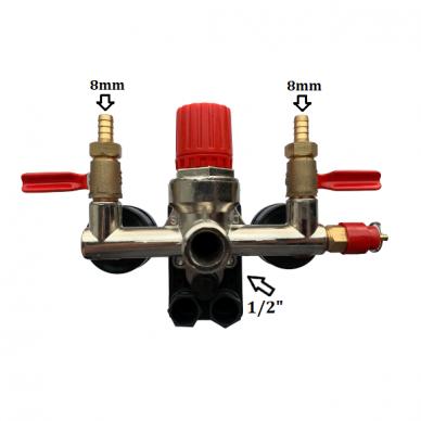 Reguliatorius kompresoriui BM tipo su slėgio jungikliu ir manometrais. Atsarginė dalis 3