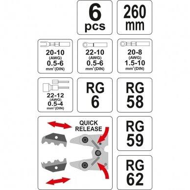Replės laidų užspaudimui su keič. antgaliais 4