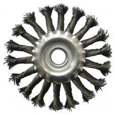 Šepetys vielinis disko tipo, susuktas, 200x22.2mm