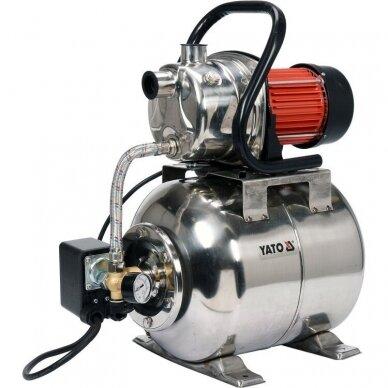 Siurblys 1200W su 19l hidroforu (INOX)