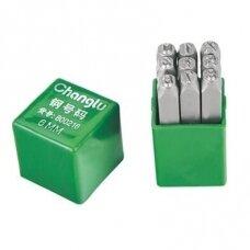 Number stamp 3mm, 9pcs