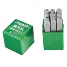 Number stamp 4mm, 9pcs.