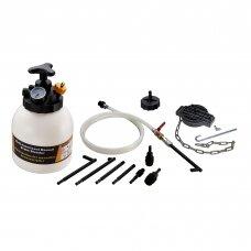 Stabdžių sistemos nuorinimo ir užpildymo įrenginys su ATF adapterių rinkiniu