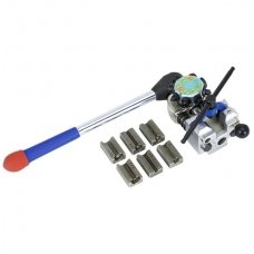 Turret type brake flaring tool kit