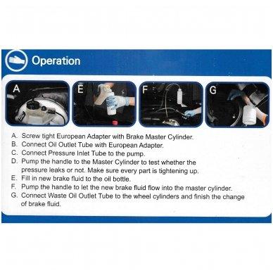 Stabdžių sistemos nuorinimo įrankis su pompa 2