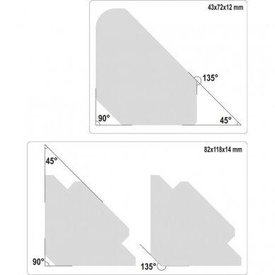 Suvirinimo kampų magnetinių rinkinys (6vnt)(45°-90°-135°) 2