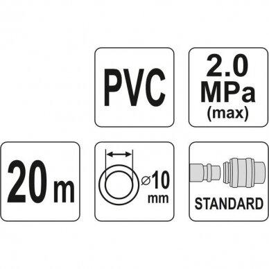 Žarna su jungtimis PVC (10x14mm) 20m 2