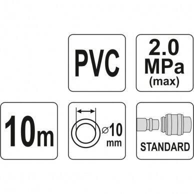Žarna su jungtimis PVC (Ø10x14mm), 10m 2